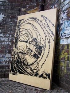 zbarbed wire tube surfing stencil by ambush