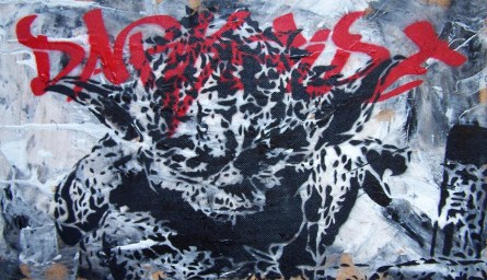 yoda darkside on paint stencil by ambush